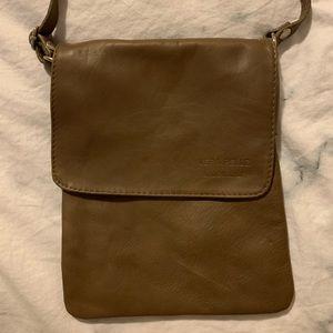 NWOT Vera Pelle Brown Crossbody Bag